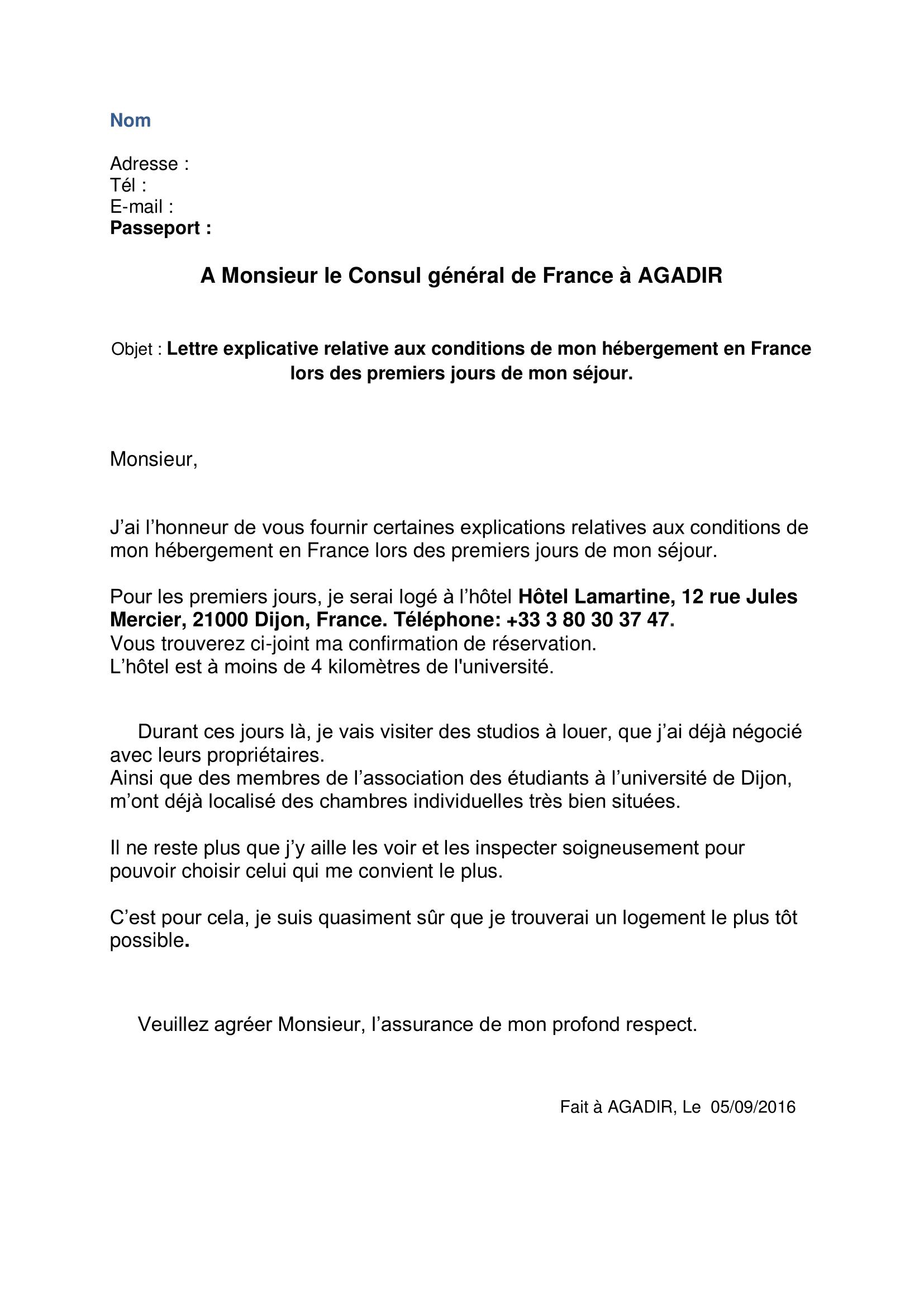 Exemplaire De Lettre De Motivation Campus France