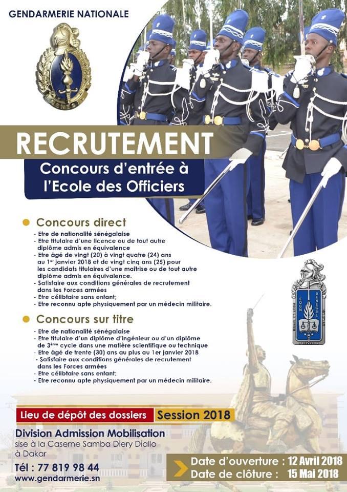 ad557db2767 Concours d entrée à l école des officiers de la Gendarmerie - Groupe ...