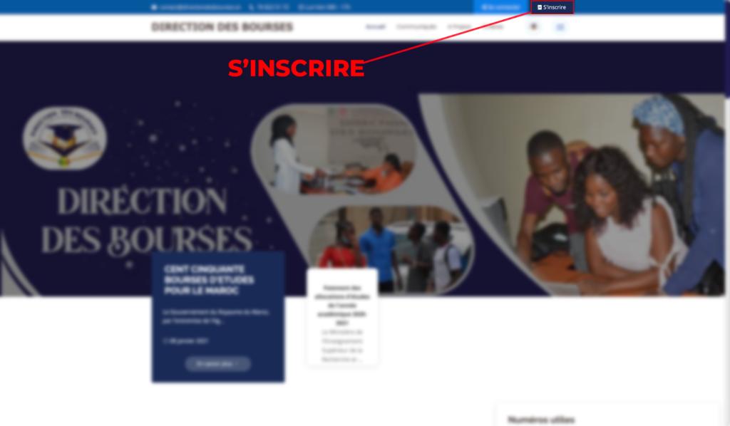 """Capture d'ecran de la  page"""" d'accueil""""  par infoetudes.com"""