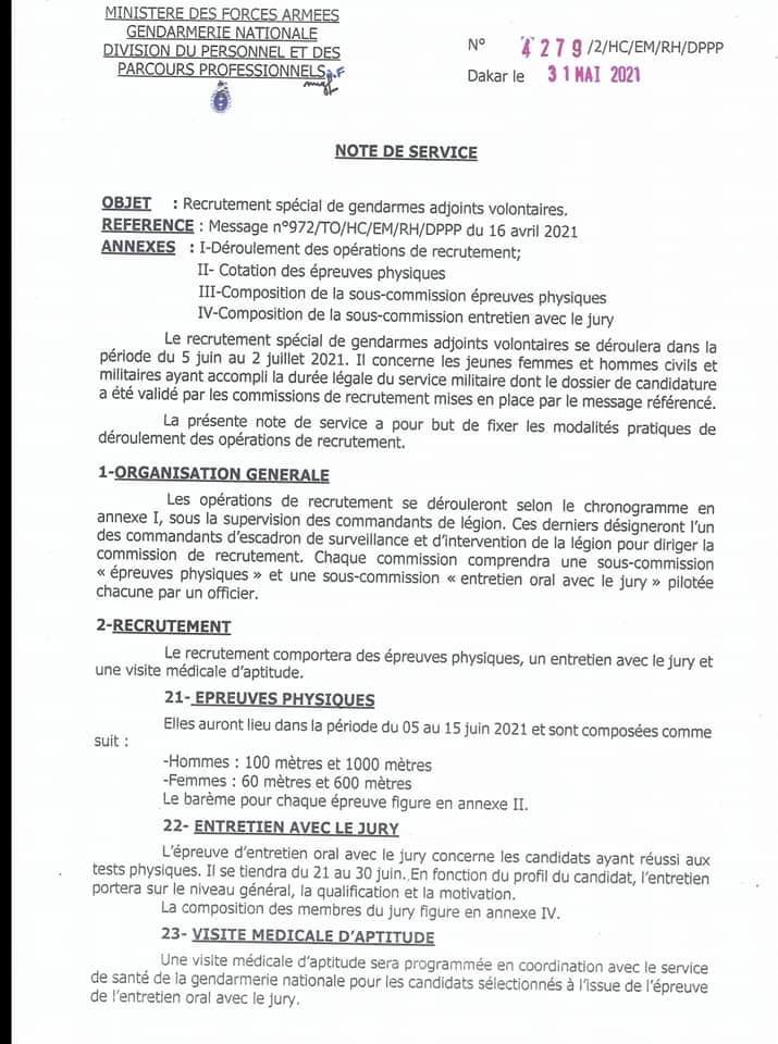 IMG 4259 Recrutement spécial de gendarmes adjoints volontaire