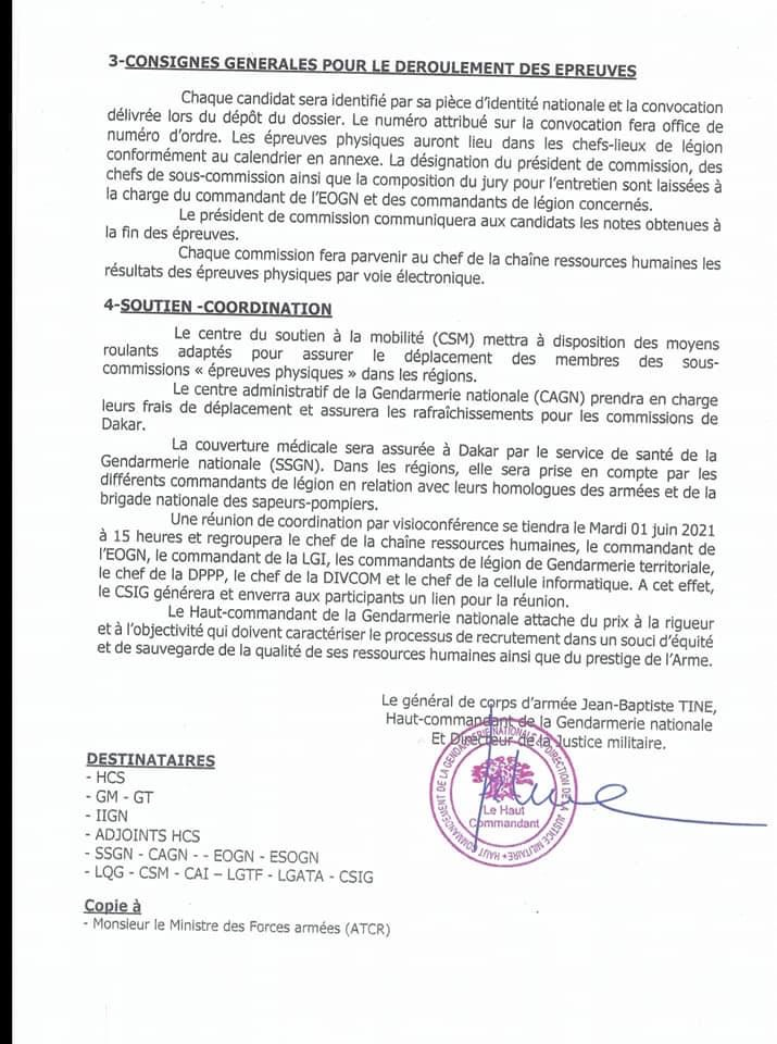IMG 4260 Recrutement spécial de gendarmes adjoints volontaire