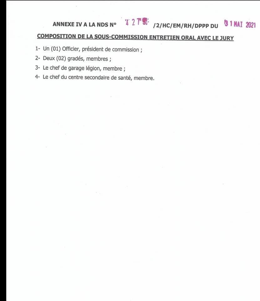 IMG 4265 Recrutement spécial de gendarmes adjoints volontaire